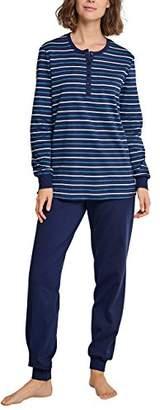 Schiesser Women's Anzug Lang Pyjama Sets, (Dark Blue 803)