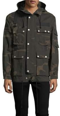 Ovadia & Sons Camouflage Hooded Utility Jacket