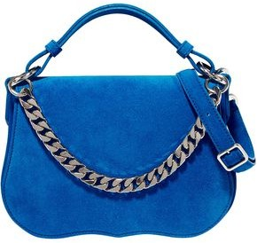 Calvin Klein Chain-trimmed Suede Shoulder Bag