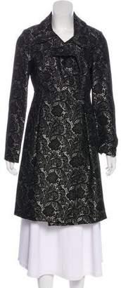 Tibi Brocade Knee-Length Coat