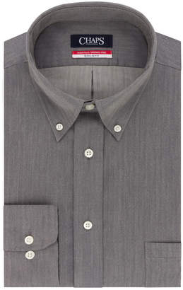 Chaps Men's Regular-Fit Wrinkle-Free Herringbone Dress Shirt