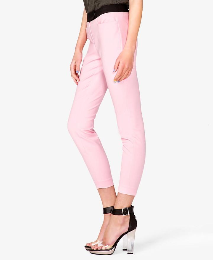 Forever 21 Colorblocked Skinny Capri Pants