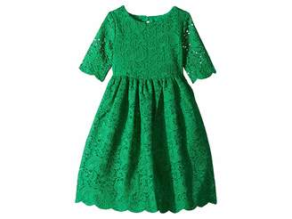 Janie and Jack Lace Open Back Dress (Toddler/Little Kids/Big Kids)
