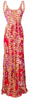 Etro ruffled paisley-print dress