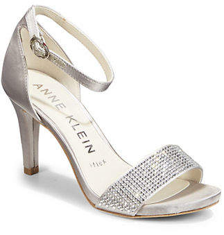Anne Klein Embellished Open Toe Pumps