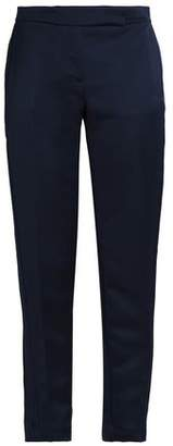 Amanda Wakeley Cropped Satin Straight-Leg Pants