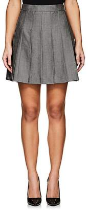 Thom Browne WOMEN'S PLEATED WOOL-MOHAIR MINISKIRT