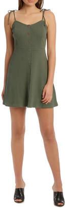 Miss Shop Button Front Skater Dress