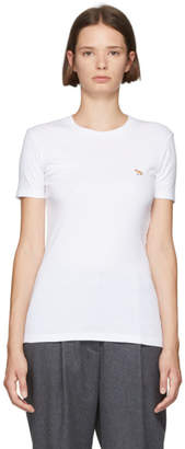 MAISON KITSUNÉ White Fox Profile Patch T-Shirt