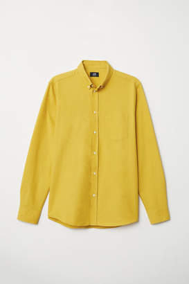 H&M Oxford Shirt Regular fit - Yellow