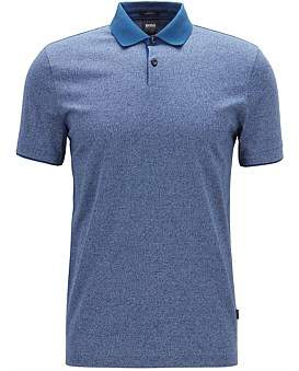 HUGO BOSS Slim-Fit Polo Shirt In Moulin Cotton With Contrast Collar