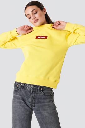 NA-KD Na Kd Logo Sweater Grey Melange