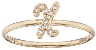 LC Lauren Conrad Gold Tone Monogram Ring $12 thestylecure.com