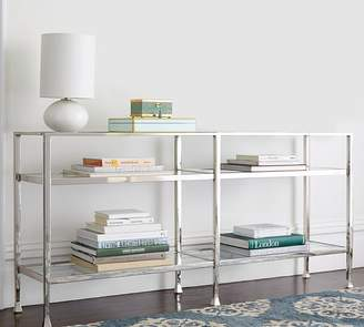 Pottery Barn Tanner Long Console Table - Polished Nickel finish
