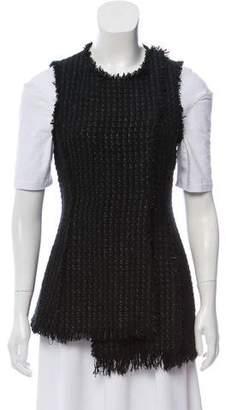 Proenza Schouler Tweed Snap-Up Vest