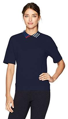 Lacoste Women's Short Sleeve Pique Polo with Plaquet with Collar Detail