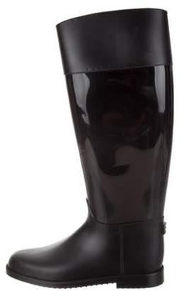Jimmy Choo Rubberized Rain Boots Black Rubberized Rain Boots