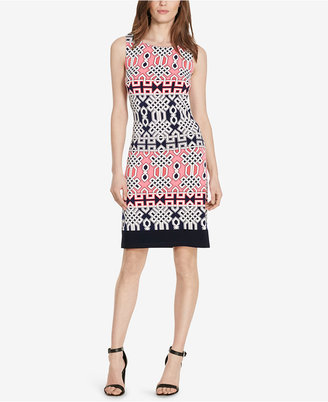 American Living Geo-Print Jersey Dress $69 thestylecure.com