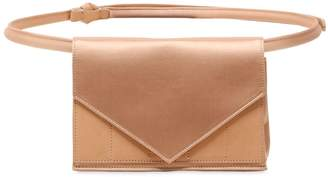 Silk Satin & Leather Envelope Clutch