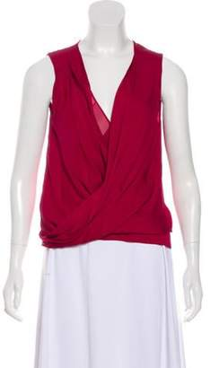 Diane von Furstenberg Silk-Blend Sleeveless Top Red Silk-Blend Sleeveless Top