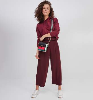 Promod Wideleg cropped trousers