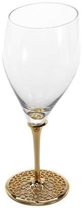 Doron Merdinger Mouth-Blown 18-Karat Gold & Titanium White Wine Glass
