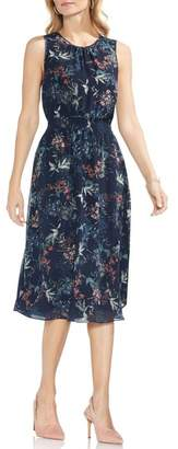 Vince Camuto Garden Floral Smocked Waist Midi Dress