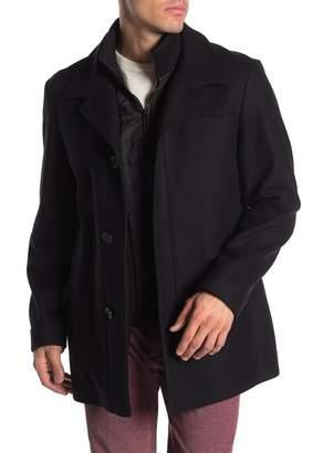 BOSS Front Button Wool Coat