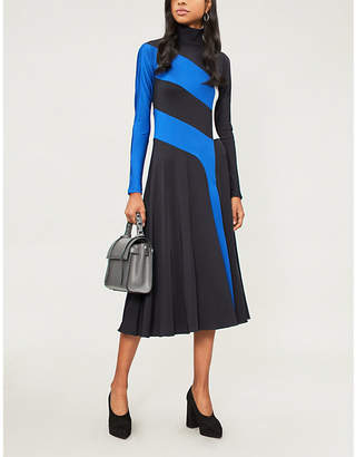 Sportmax Pepe colour-block stretch-knit dress