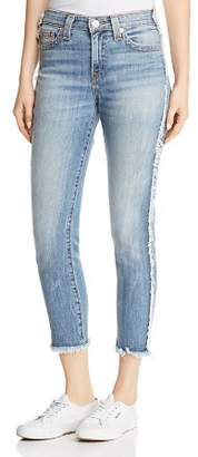 True Religion Colette High-Rise Tapered Skinny Jeans in Two Faced Fade
