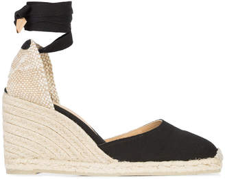 Castaner wedge heel espadrllles with ankle ribbon