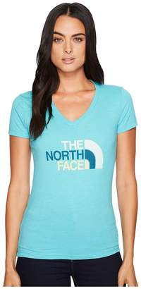 The North Face Short Sleeve Half Dome V-Neck Tee Women's T Shirt