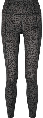 Varley - Bedford Leopard-print Stretch Leggings - Dark gray