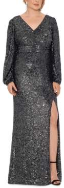 Xscape Evenings Plus Size Sequin V-Neck Gown