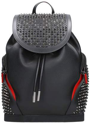 Christian Louboutin Explorafunk Black Leather Backpack
