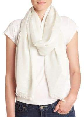Saks Fifth Avenue Shimmer Frayed Scarf