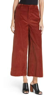 Elizabeth and James Oakley Crop Wide Leg Corduroy Trousers