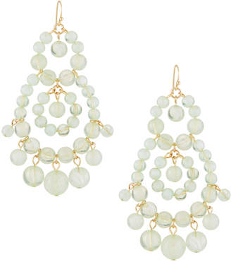 Fragments for Neiman Marcus Beaded Statement Earrings, Mint