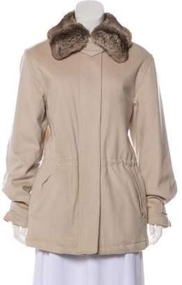 Loro Piana Chinchilla-Trimmed Cashmere Coat
