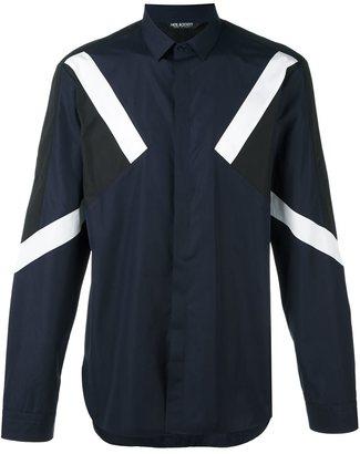 Neil Barrett colour block shirt $382.45 thestylecure.com