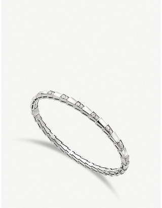 Bvlgari Serpenti Viper 18kt white-gold and diamond bracelet