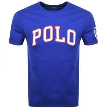 Ralph Lauren Crew Neck Custom Fit T Shirt Blue