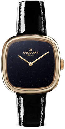 Gomelsky 32mm Eppie Mini Watch w/ Patent Leather Strap