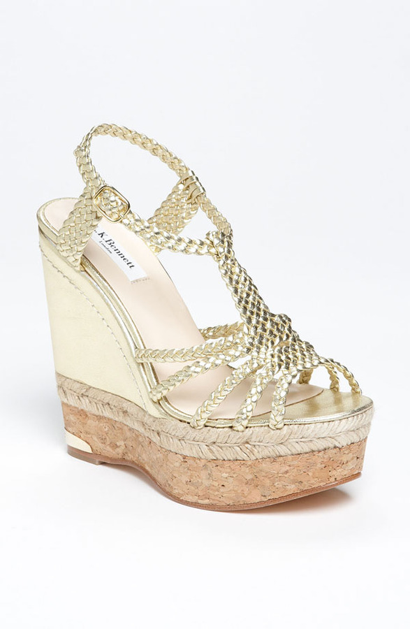 LK Bennett 'Aqunia' Sandal Gold 7.5US / 38EU