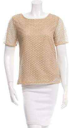 Diane von Furstenberg Metallic Lace Top w/ Tags