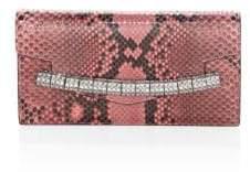 Calvin Klein Python & Crystal-Strap Clutch