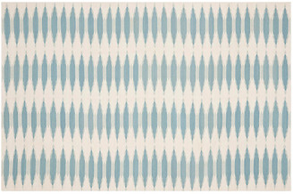 One Kings Lane Edith Flat-Weave Rug - Sky