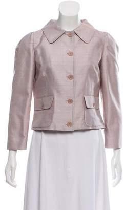 Dolce & Gabbana Iridescent Pointed Collar Blazer w/ Tags