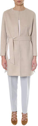Max Mara Camel Colour Reversible Wool Jacket