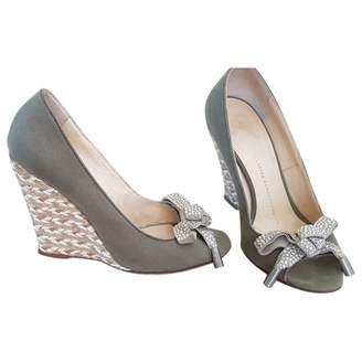 Giuseppe Zanotti Khaki Cloth Heels